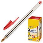 Ручка шариковая неавтоматическая масляная BIC Cristal красная (толщина линии 0.4 мм)